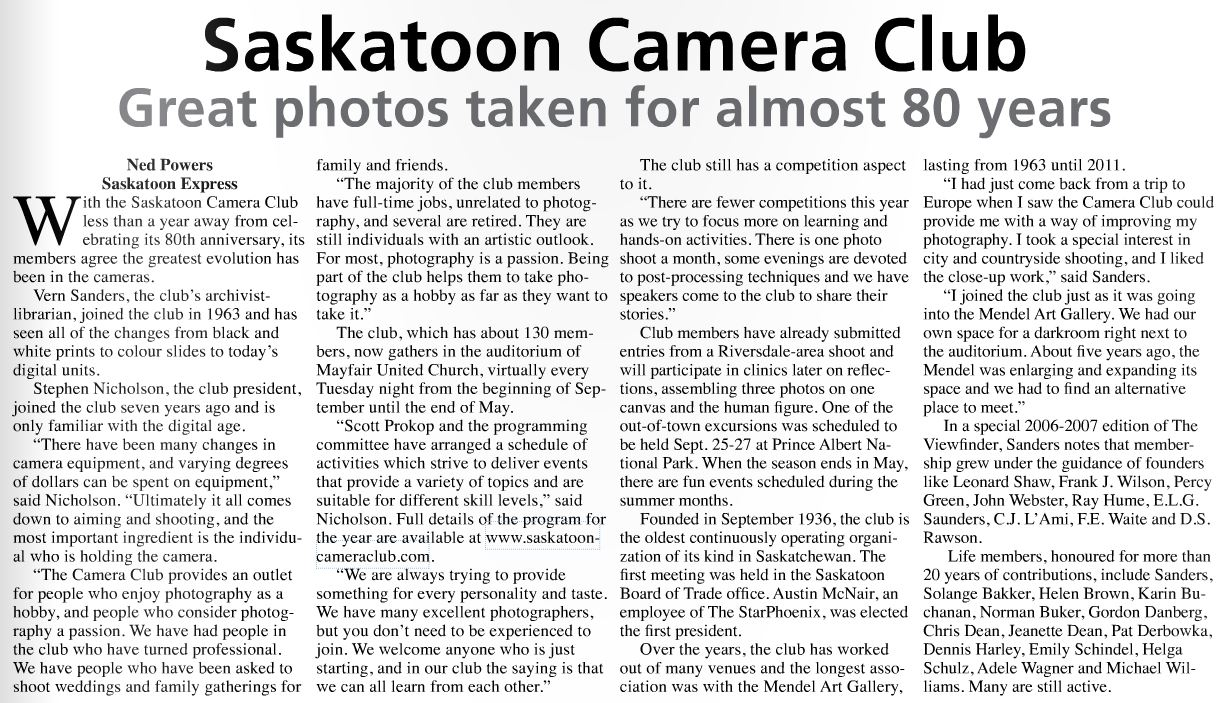 Saskatoon Express Article